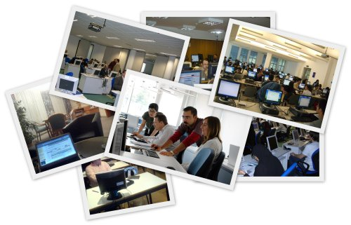 photo collage of workshops